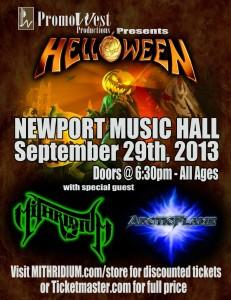 Helloween Show Flyer