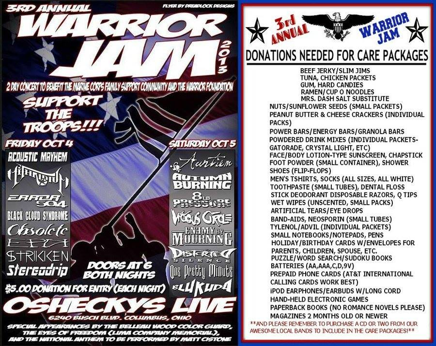 Warrior Jam 3 Flyer